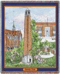 FLORIDA University of Florida Collage Tapestry Throw