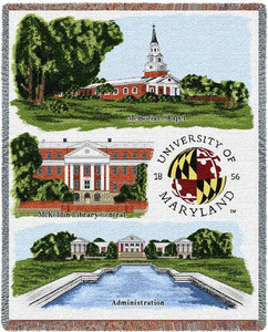 MARYLAND University of Maryland Collage Tapestry Throw