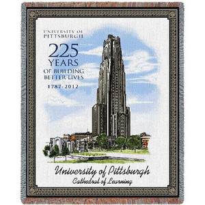 PENNSYLVANIA University of Pittsburgh Cathedral Tapestry Throw