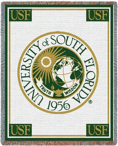 FLORIDA University of Southern California Seal Tapestry Throw