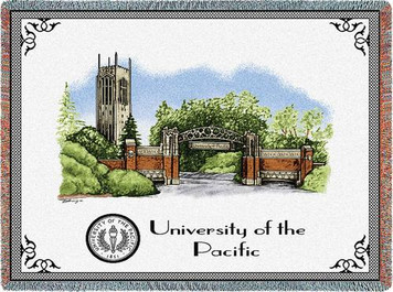 CALIFORNIA University of the Pacific Tapestry Throw