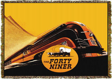 Union Pacific Railroad Forty Niner Train Throw MS-2011TU4