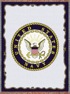 United States Navy Tapestry Throw