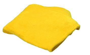 Velura Yellow Premium Coral Fleece Throw 60x70