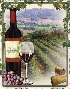 Vineyards Tapestry Throw MS-8165TU4