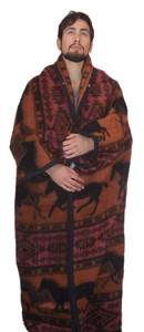 Horse Adventure Dark Orange Warm Me Up Wrap
