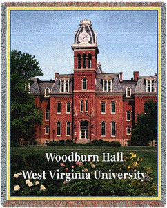 West Virginia University Woodburn Hall Tapestry Throw