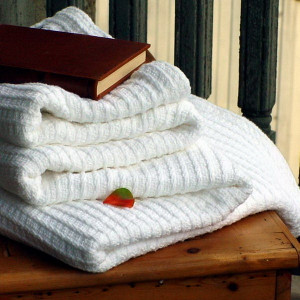 White Rib Cotton Luxury Blanket Bed Queen