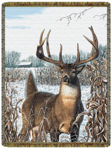 Whitetail Deer Tapestry Throw L10097