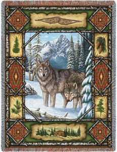 Wolf Lodge Tapestry Throw 1099-T