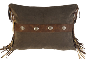 Mustang Canyon Fabric and Leather Pillow Sham