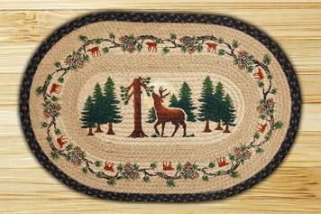Deer Woods Braided Jute Rug