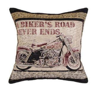 A Biker's Road Tapestry Pillow PTP979
