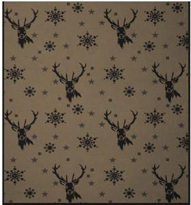 Biederlack Hirsche Allover Deer Blanket deign