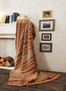 Biederlack of Germany Cotton and Acrylic Homing Terra Blanket