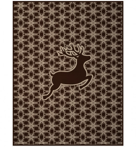 Biederlack Orion Cotton Hirschbock Deer Blanket