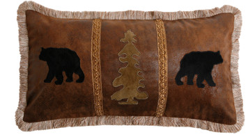 Bear Tree Bear Pillow JB4004