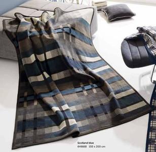 Biederlack Thermosoft Scotland Blue Blanket