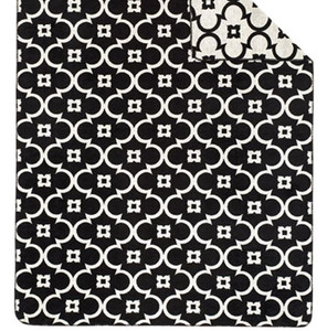 Ibena Sorrento Black and White Blanket