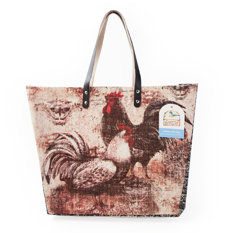 Buy bohemian rooster large tote bag for 10 minute table runner 30 minute tote bag