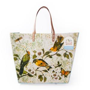 Sanctuary Birds large Jute Tote Bag