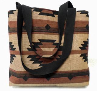 Southwest Geometric Tan cotton tapestry Tote Bag
