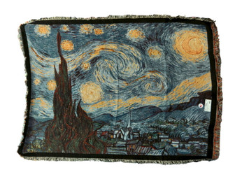 The Starry Night Tapestry Throw