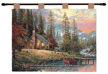 Thomas Kinkade A Peaceful Retreat Wall Hanging With Verse