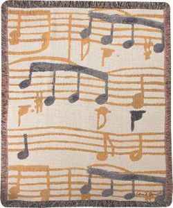 Music Stanzas Throw by Manual Woodworkers and Weavers