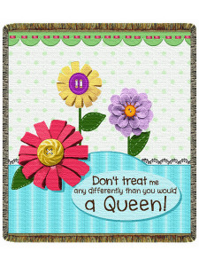 """Don't Treat Me Any Differently 60"""" Tapestry Throw Blanket (52x60 Inches)"""
