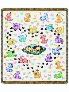 "The Pick Of The Litter 60"" Tapestry Throw Blanket (52x60 Inches)"