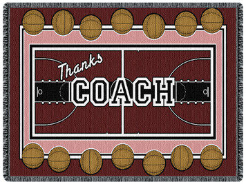 Coach - Basketball 2 Layer Throw Blanket (68x48 Inches)