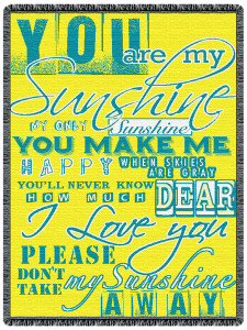 You Are My Sunshine 2 Layer Throw Blanket (48x68 Inches)