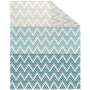 Ibena Jacquard Cotton Gradient Triangle Blanket