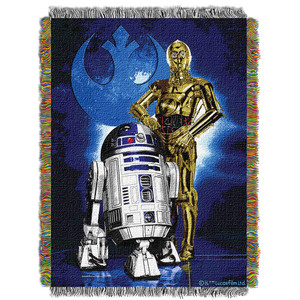 "Star Wars ""Driod Blues"" Woven Tapestry Throw Blanket"