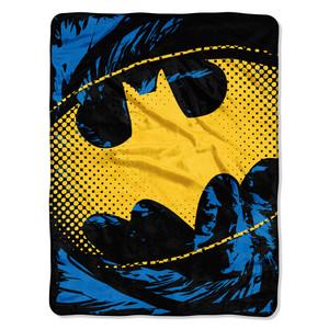 Batman - Ripped Shield Micro Raschel Throw Blanket