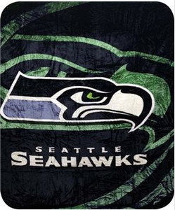 NFL Seattle Seahawks Officially Licensed Queen Sized Throw Blanket