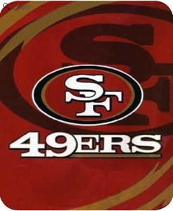 NFL San Francisco 49ers Officially Licensed Queen Sized Throw Blanket