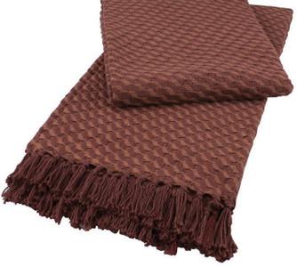Merlot Multi Woven Cotton Throw Blanket by Split-P