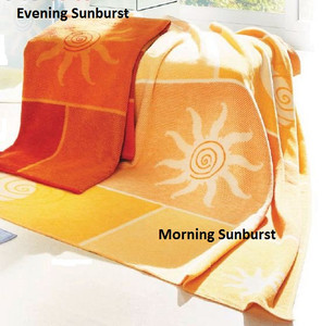 Biederlack Evening Sunburst and Morning Sunburst Throws