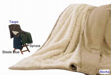 Kanata Faux Alpaca Blanket - Mocha Large