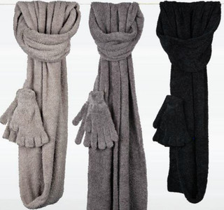 Dolce Scarf and Glove Set - Flax Gray