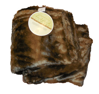 Kennebunk Home Caribou Dark Brown Faux Fur Throw
