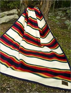 Cabin Fever Heritage Stripe Twin Blanket