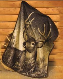Cabin Fever The King Deer Twin Blanket