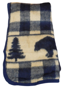 Bear Creek Check Twin High Pile Acrylic Blanket