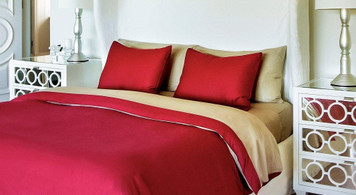 Bed Voyage Duvet Cover Bamboo Cayenne Champagne Twin