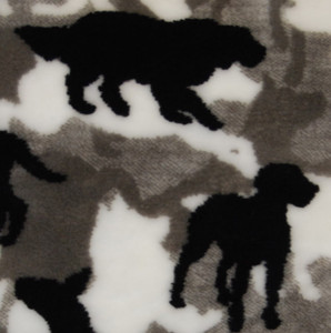 Denali Theme-O-Flage Dogs Black fabric