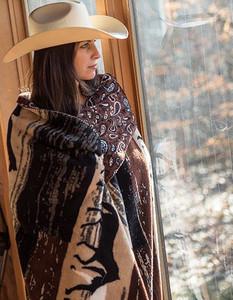 Horses/Sable Paisley #249 50x60 Inch Throw Blanket