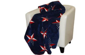 All American/Atlantic Blue #569 60x70 Inch Throw Blanket
